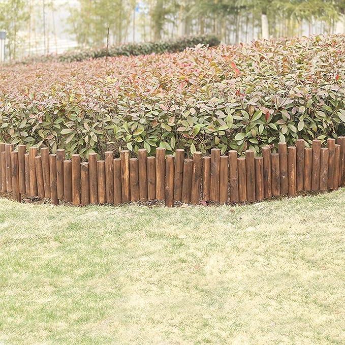 LXFYMX Vallas para Jardin Césped de Madera Efecto jardín Borde ...