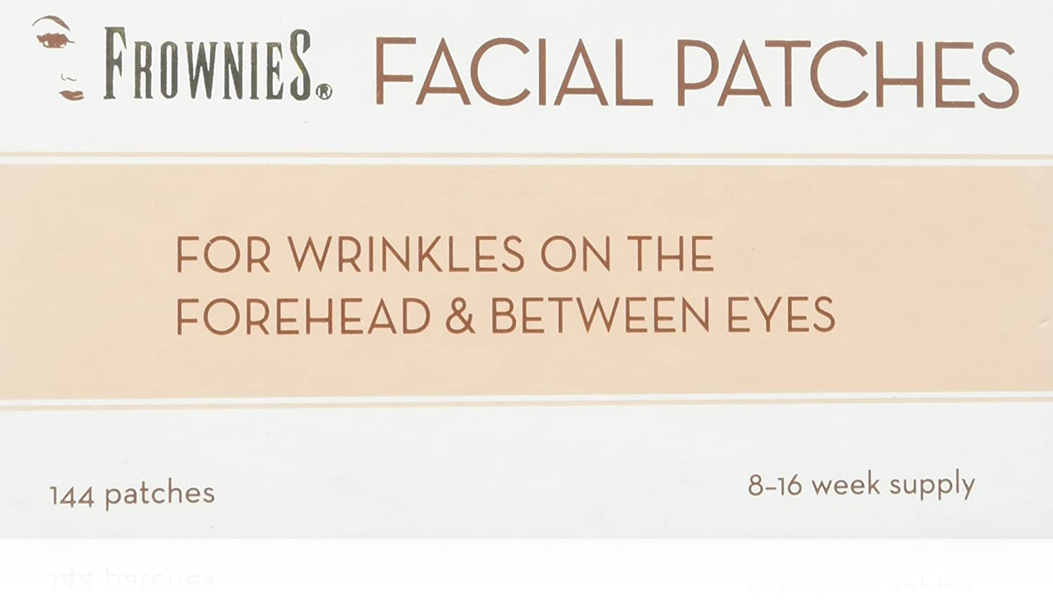 Frownies (FBE) Forehead & Between Eyes, 144 Patches (3) pack FBE144
