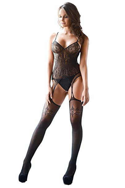 b5e6bea9d6b Amazon.com  Yelete Killer Legs Fishnet Bodystocking Regular and Queen Plus  Size Lingerie  Shoes