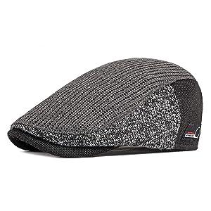 [Eternal Leaf] ハンチング帽子 サーマル ニット ハンチング メンズ レディース フリーサイズ FT24109 (03.グレー)