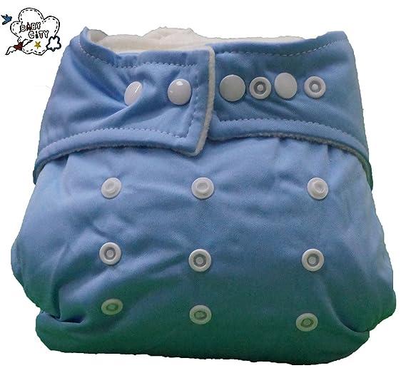 Pocket pañales lavables Pocket 3 piezas + 6 puntas - Omaggio Wet Bag - Micropile - infantil - 7 colores (Mix maschietto): Amazon.es: Bebé