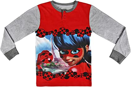22-2283 Pijama Invierno en algodón para niña Motivo Ladybug Talla de 4 a 10 años