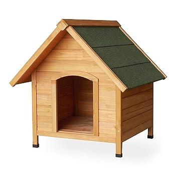 Caseta perros perrera madera pino tejado alquitrán 780x820x760mm jardín terraza exterior mascotas: Amazon.es: Jardín