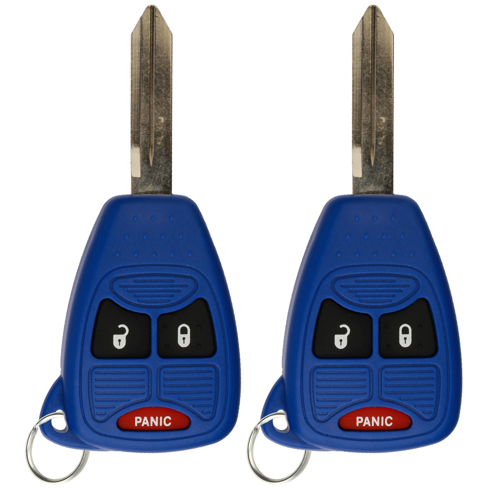 KeylessOption Keyless Entry Remote Control Car Key Fob Replacement for OHT692427AA KOBDT04A Blue (Pack of 2)