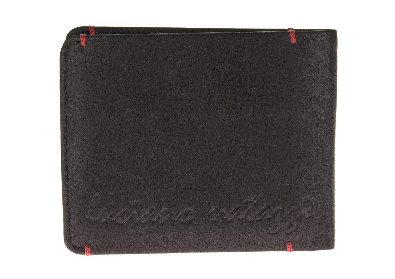 Luciano Natazzi Designer Mens RFID Blocking Nappa Leather Slim Bifold Wallet