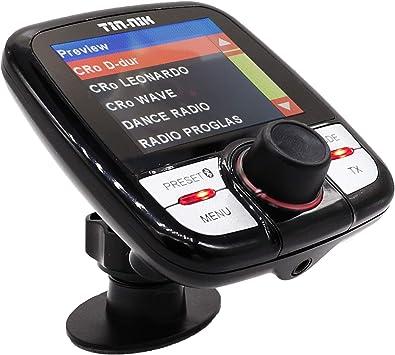 Tin-Nik DAB-388 DAB/DAB+ Adaptador radio FM para coche, transmisor FM integrado, Llamada manos libres. DAB coche,Pantalla a color 2.4 con música en ...