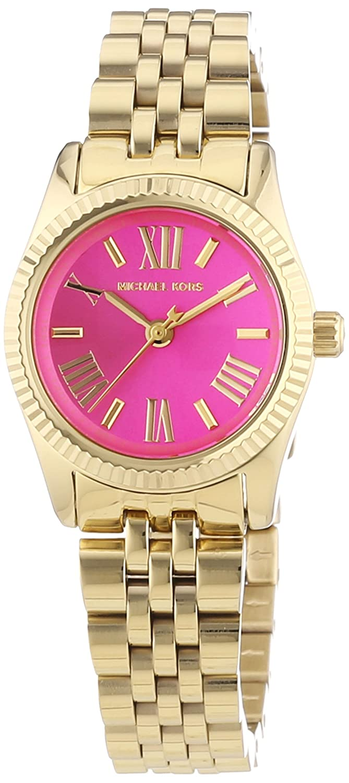 6c48ee3ef16 Amazon.com  Michael Kors Mini Lexington Pink Dial Gold-tone Ladies Watch  MK3270  Michael Kors  Watches