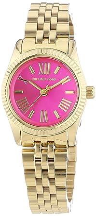 e9e82eb21e24 Image Unavailable. Image not available for. Color  Michael Kors Mini  Lexington Pink Dial Gold-tone Ladies Watch MK3270