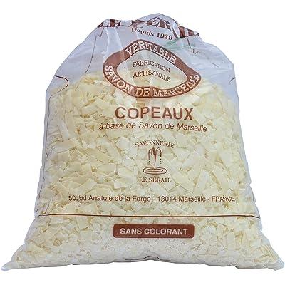Copos de jabón de Marsella, 1 kg – aroma de flor de algodón – detergente con jabón de Marsella – fabricado artesanalmente por Le Serail desde 1949