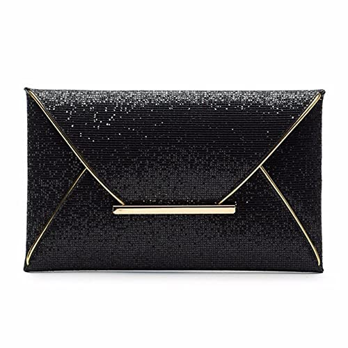 a667a0fbd15 Generic Gold : Envelope clutch Lady Sparkling Dazzling Bag Purse Evening  Party Handbag Day Clutches Shining Clutch Large Capacity Wallet: Amazon.in:  Shoes & ...