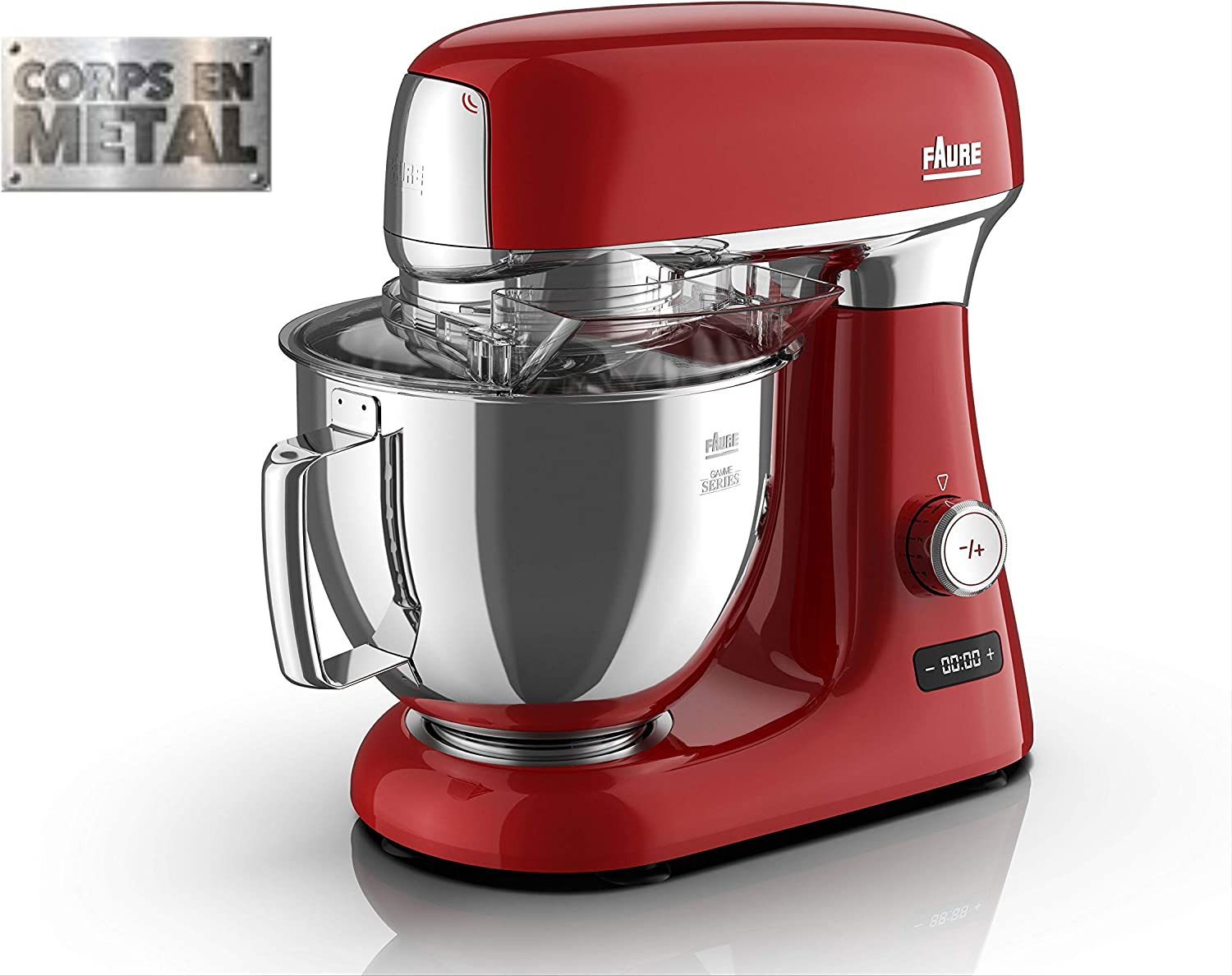 Faure FKM-104MS1 Robot - Culinario (4,8 L), color rojo: Amazon.es ...