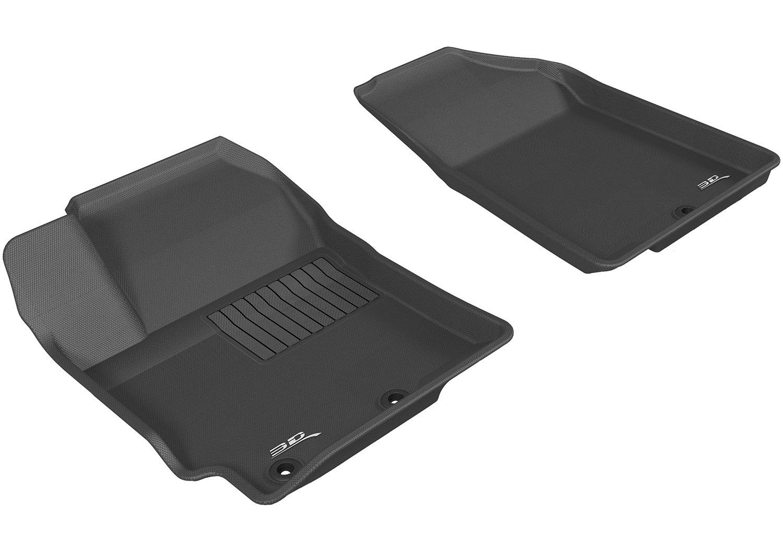 L1KA01401501 Gray Kagu Rubber 3D MAXpider Complete Set Custom Fit All-Weather Floor Mat for Select Kia Rio//Rio5 Models