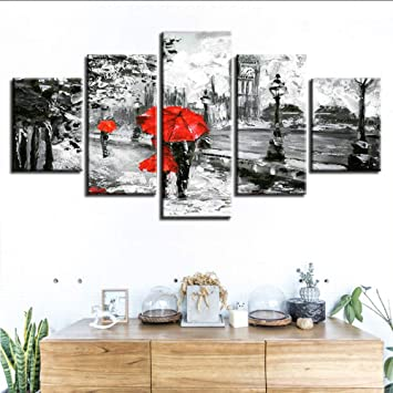 Painting & Calligraphy Beautiful Wall Art Modular Pictures 5 Panels Retro Street Graffiti Stairs Canvas Painting On The Wall Pictures For Living Room Home Decor Home Decor