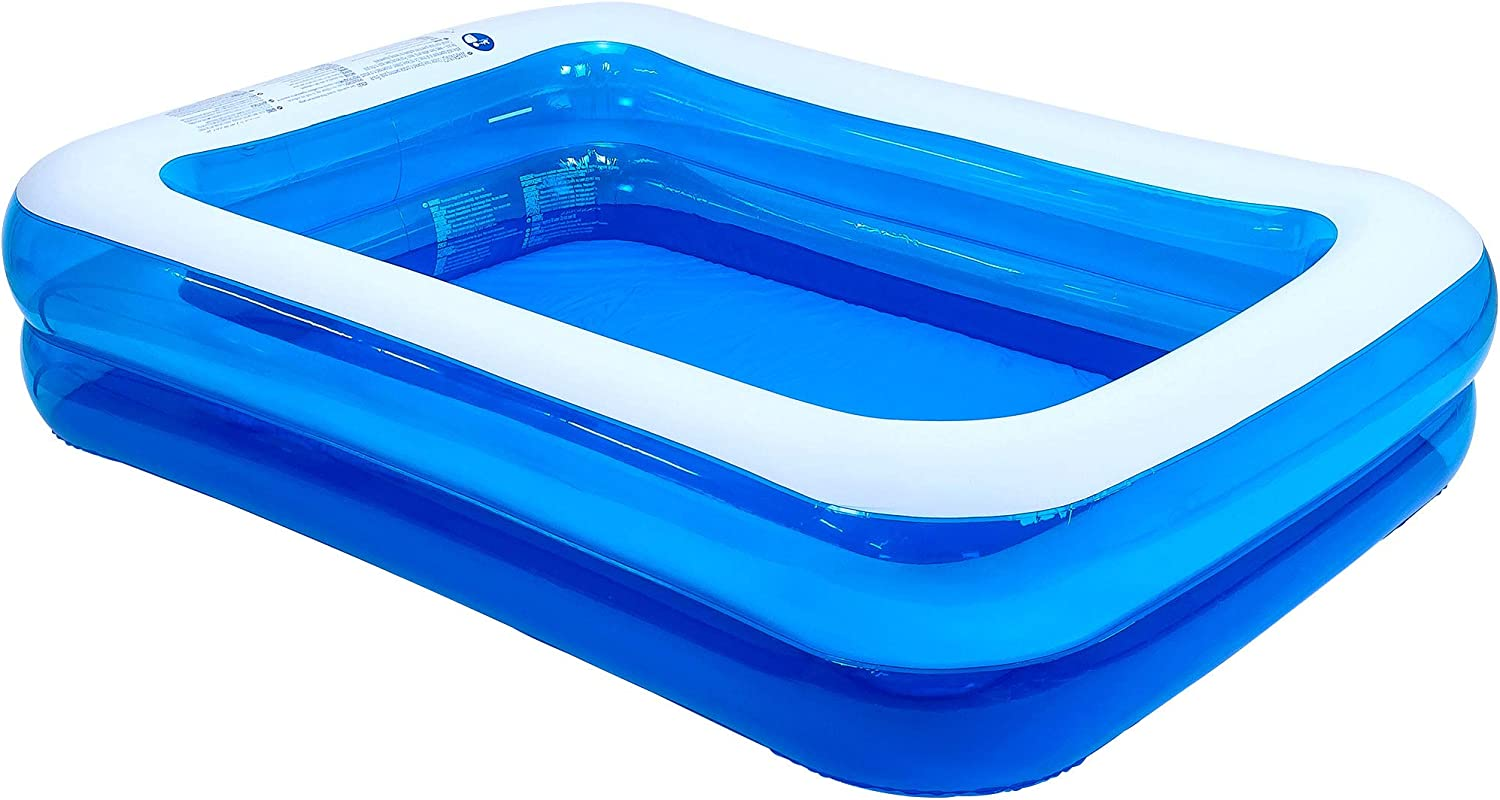 "Jilong Rectangular Inflatable Kiddie Pool, Blue, 79"" x 59"" x 20"""