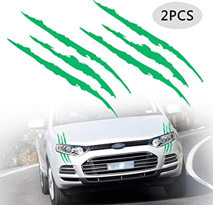 Reflective Black Scratch Stripe Headlight Car Truck SUV Vinyl Decal Sticker
