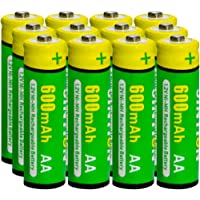 JINTION Rechargeable AA Batteries for Solar Lanterns Replacement NiMh AA 600mAh 1.2V AA Solar Batteries Replace for…