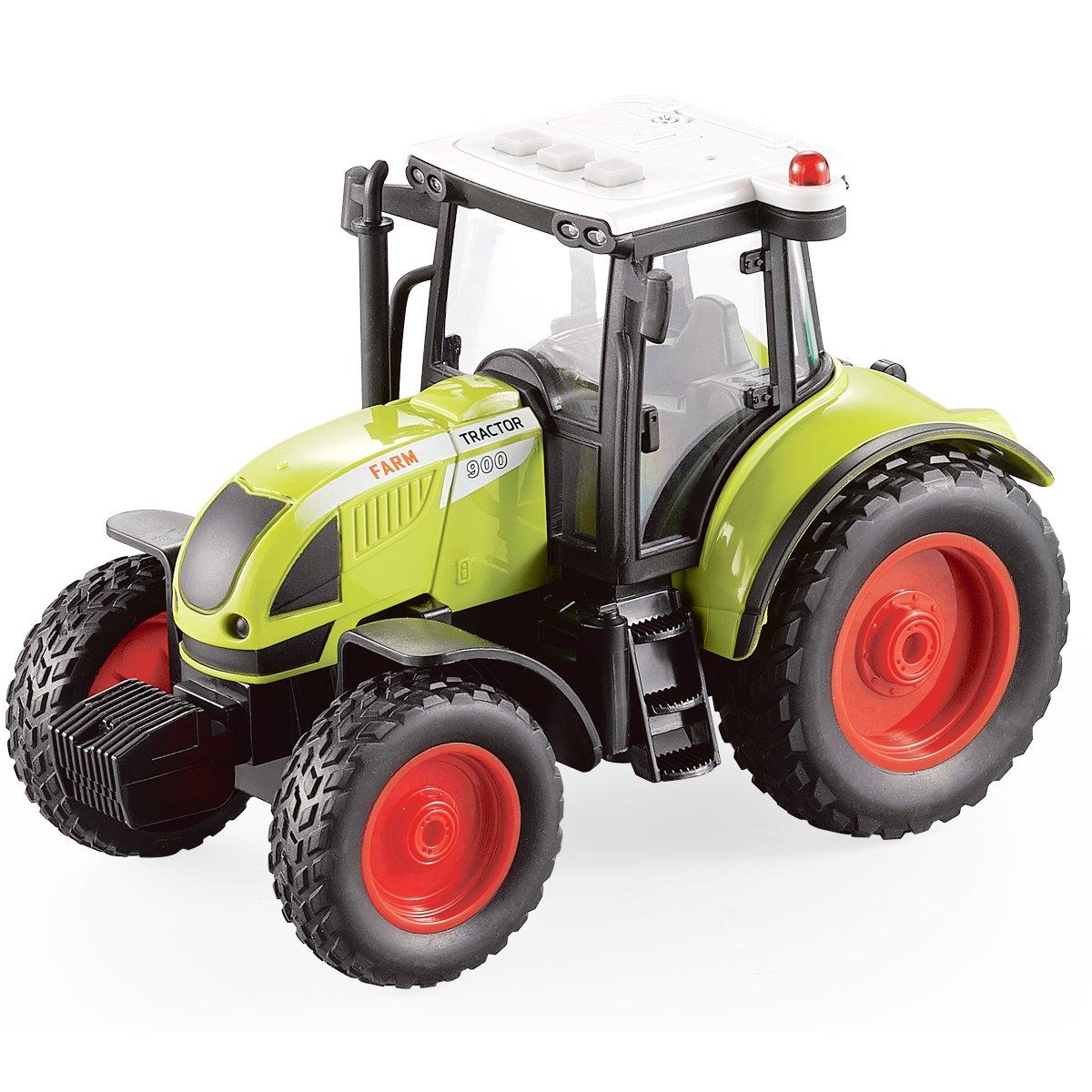 Fistone 1:16 Truck Inertia Farm Tractor Modern Farm Machinery Car Toy Simulation Farmer Tractor with Light and Music