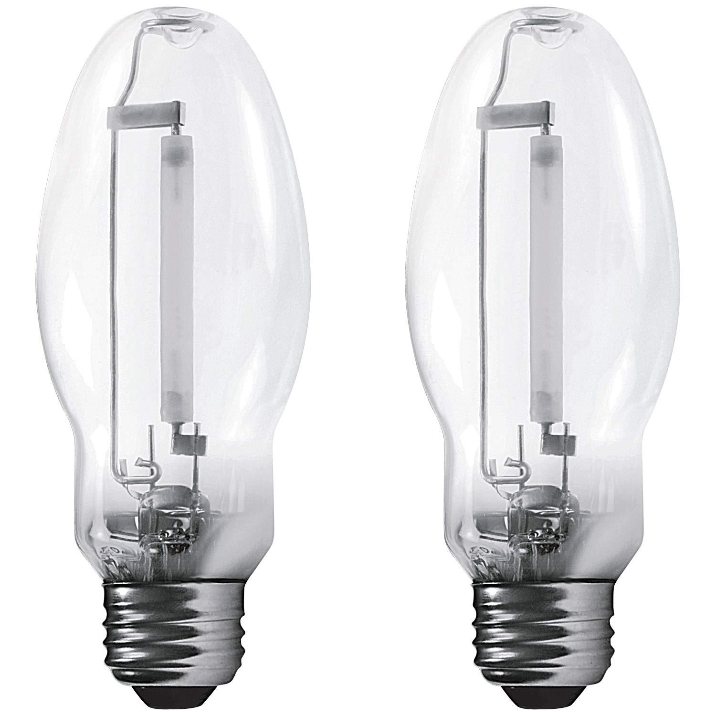 Luxrite LR20680 (2-Pack) LU35/ED17 35-Watt HID High Pressure Sodium Light Bulb, Warm White 2100K, 2250 Lumens, E26 medium base
