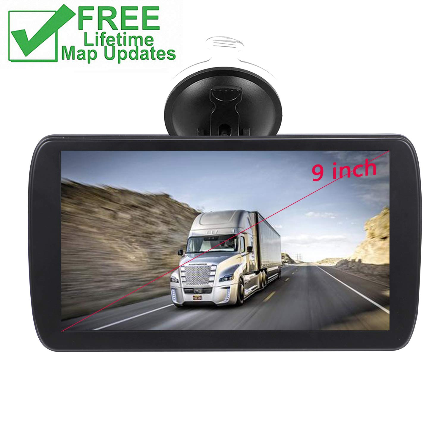 Car GPS, 9 inches Navigation System for Cars Lifetime Map Updates Touch Screen Real Voice Direction Vehicle GPS (black-01) by FULiYEAR