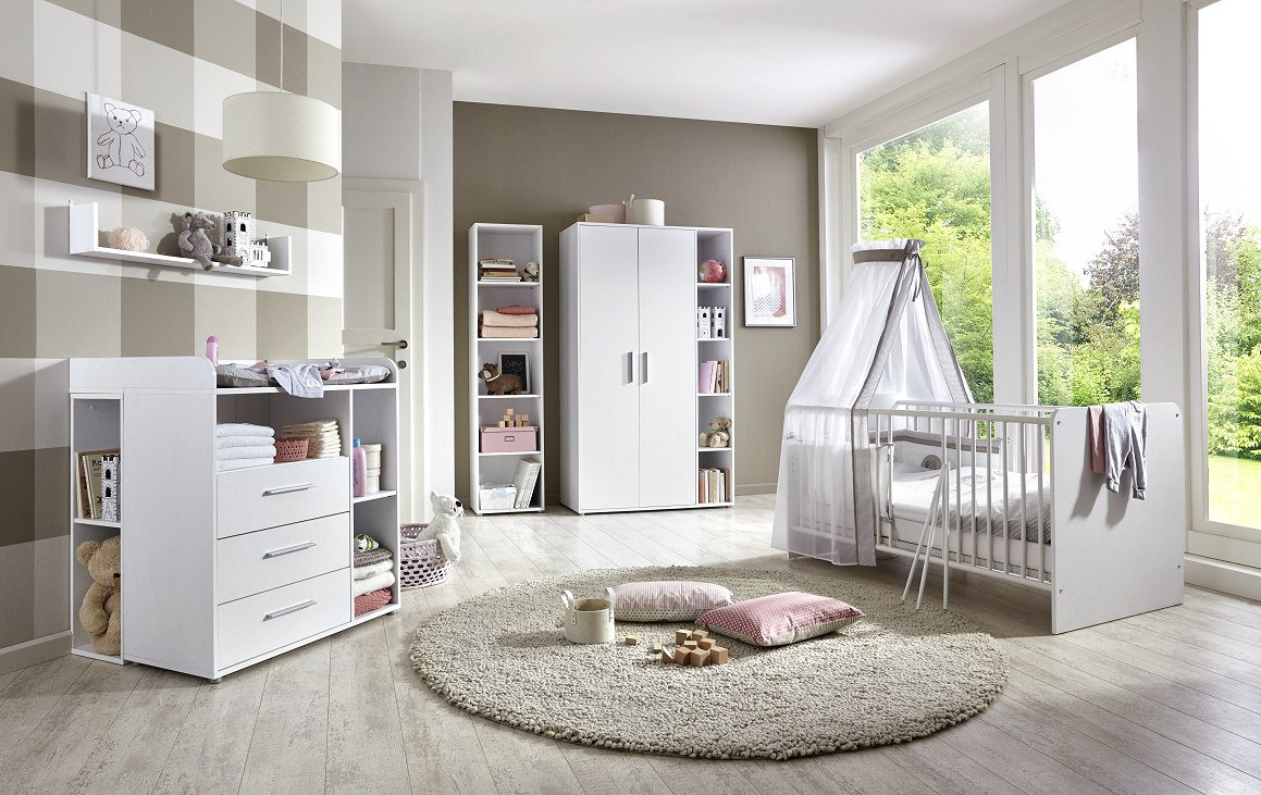 babyzimmer komplett set wei. Black Bedroom Furniture Sets. Home Design Ideas