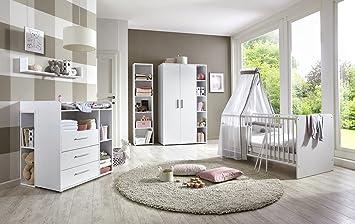 Babyzimmer set  Babyzimmer / Kinderzimmer komplett Set KIM 4 in Weiß, Komplettset ...