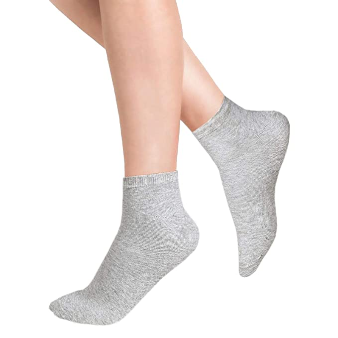 3 Pairs ladies Socks Low Cut Rich Cotton Sport Trainer Socks 4-7