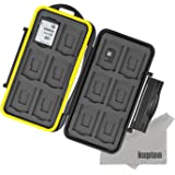 Kupton 24 Slots Water-Resistant Shockproof Memory Card Case Box