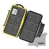 (カップテン)Kupton SD・Micro SDカードケース 両用 24枚収納可能 カード収納ケース メモリーカードケース SD(12枚)・マイクロSD(12枚)カード収納用 両面収納タイプ 高耐衝撃 超防水防塵