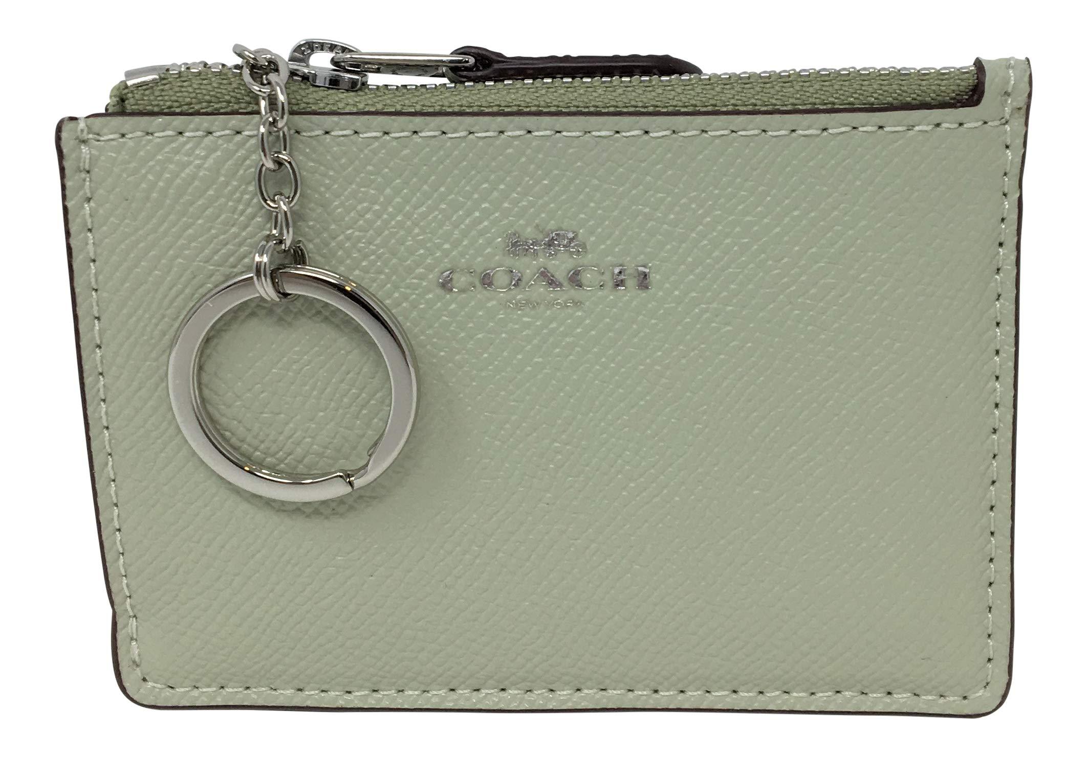 Coach F12186 Mini Skinny ID Case In Crossgrain Leather Pale Green by COACH