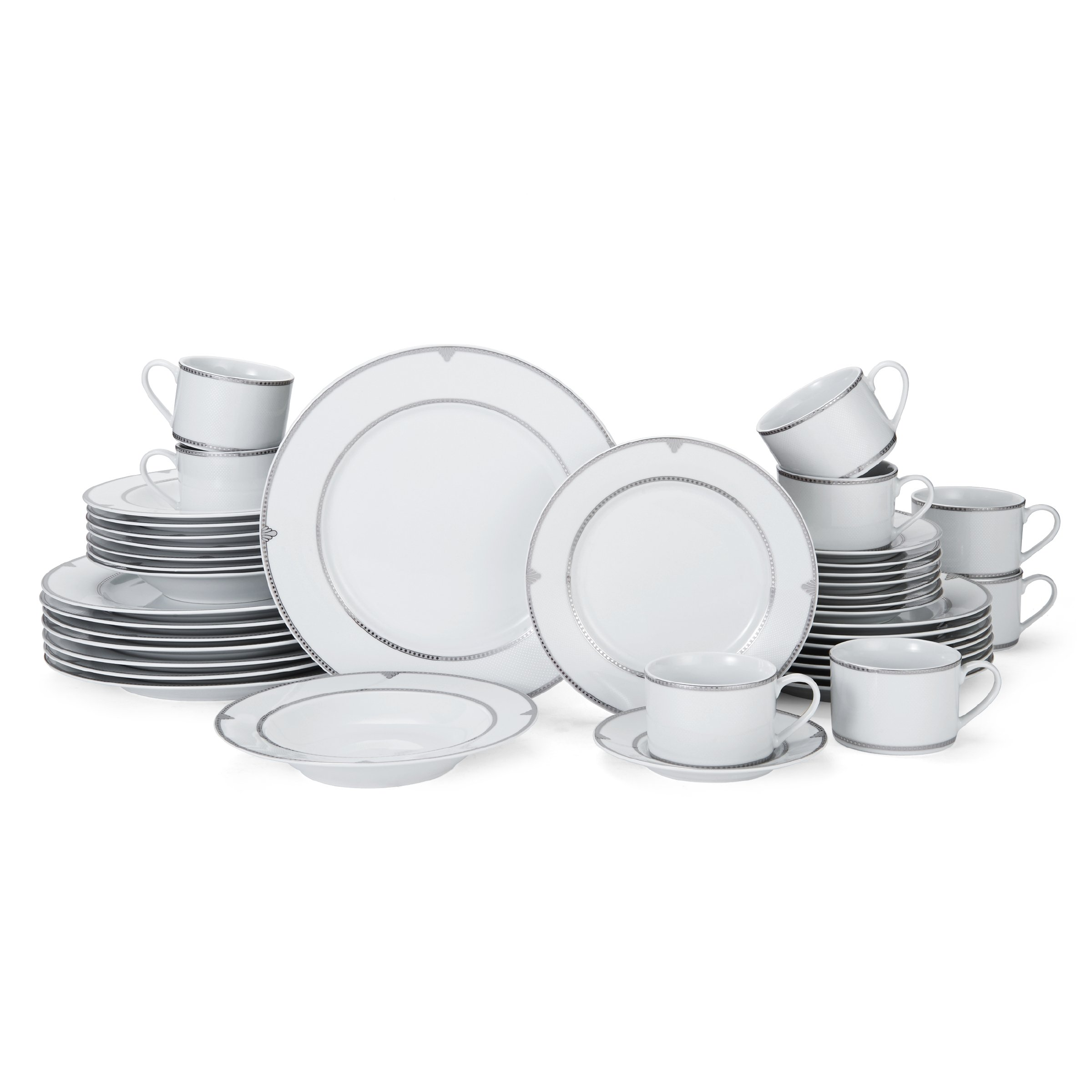 Mikasa Regent Bead 40-Piece Porcelain Dinnerware Set, Service for 8 by Mikasa (Image #3)