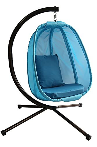 Flowerhouse Hanging Egg Chair, Blue