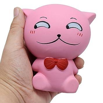 Amazon.com: Juguete Kawaii Squishy Cat Emoji Caras de ...
