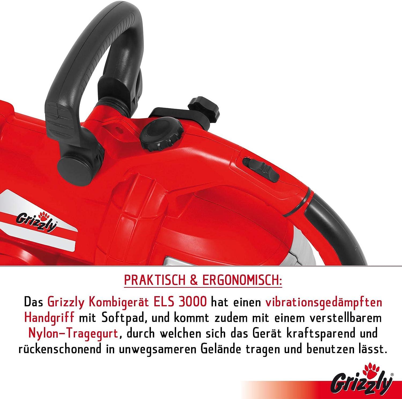 Grizzly ELS 3000 - Aspirador de hojas eléctrico 3 en 1, soplado ...
