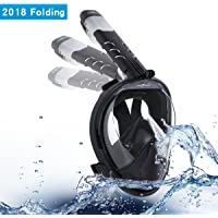 Rockpals 2018 Full Face Snorkel Mask for Adults Kids
