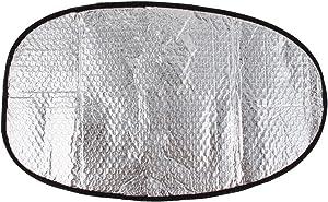 uxcell Aluminum Foil Motorcycle Waterproof Sunscreen Heat Insulation Mat Seat Cover 60x36cm