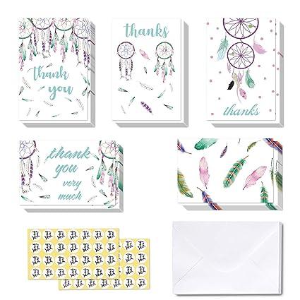 Tarjetas de agradecimiento, Ohuhu 40 Paquete de Tarjeta de ...