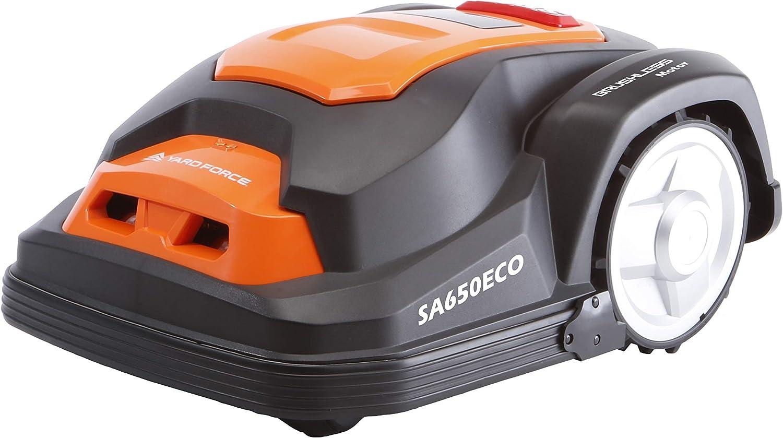 YARD FORCE SA650ECO Robot cortacésped, 28 V, Negro/Naranja, 650 m²