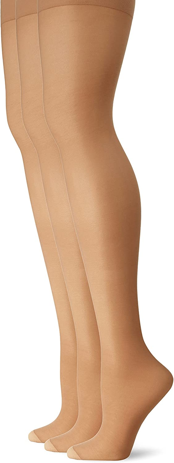 L'eggs Women's Energy 3-Pack Control Top Reinforced Toe Panty Hose at  Women's Clothing store
