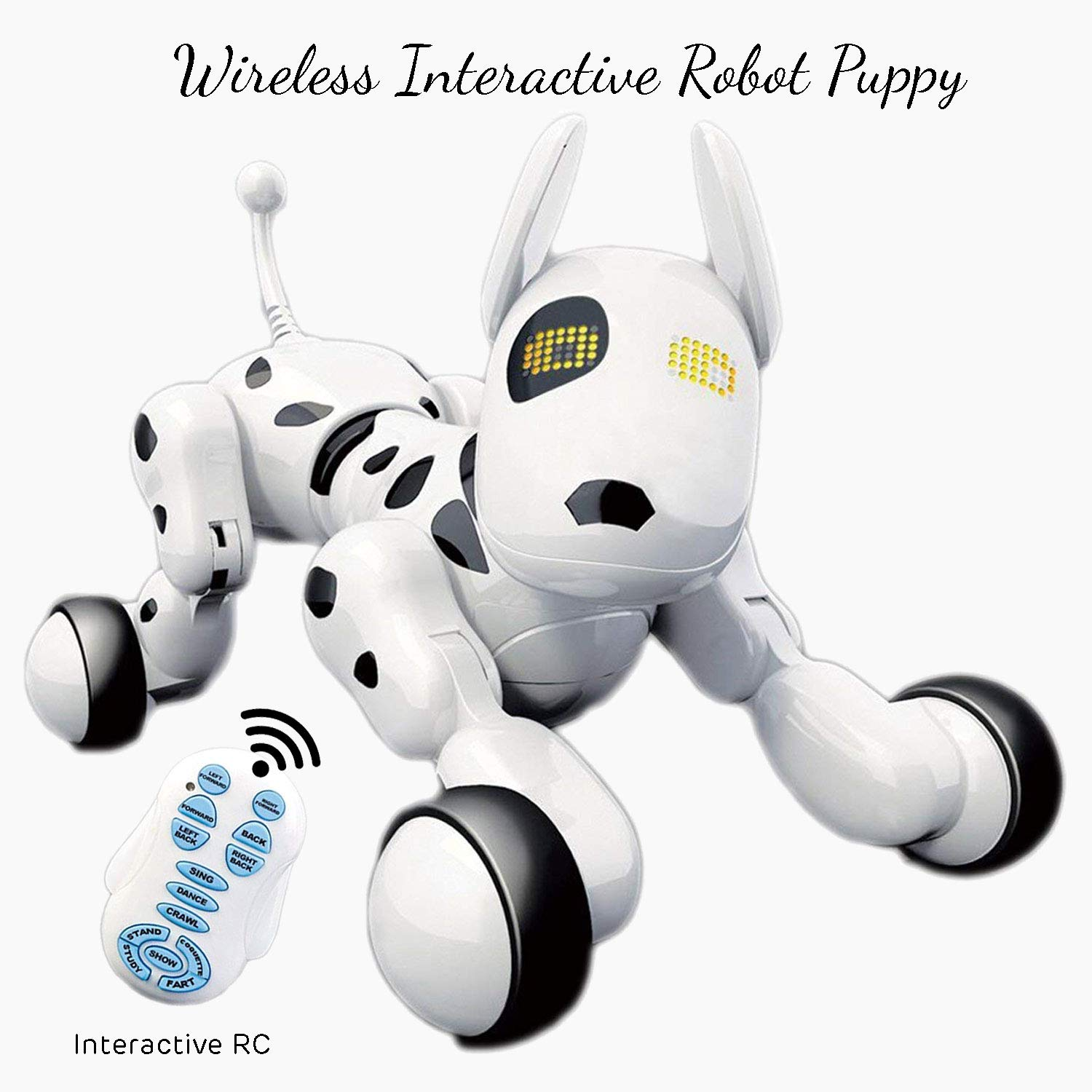 Dimple Interactive Robot Puppy With Wireless Remote Control RC Animal Dog Toy That Sings, Dances, Eye Mode, Speaks for Boys/Girls, Perfect Gift for Kids. by Dimple (Image #1)