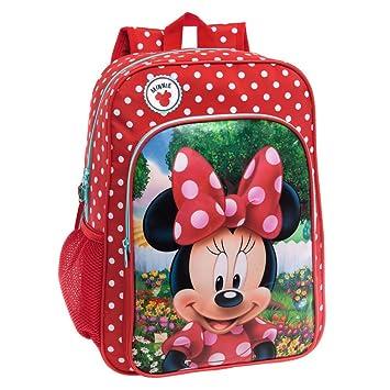 Disney 4422351 Minnie Garden Mochila Escolar, 15.6 litros, Color Rojo: Amazon.es: Equipaje