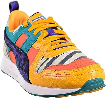PUMA RS 100 Animal Mens Shoes WhiteZinniaCherry Tomato 368265 01 (12 D(M) US)