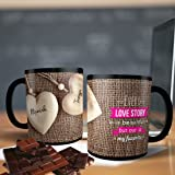Printpops Ceramic Personalized Gift Coffee Mug with Name and Beautiful Quote Written 11oz (Multicolour, PPMUGS80)