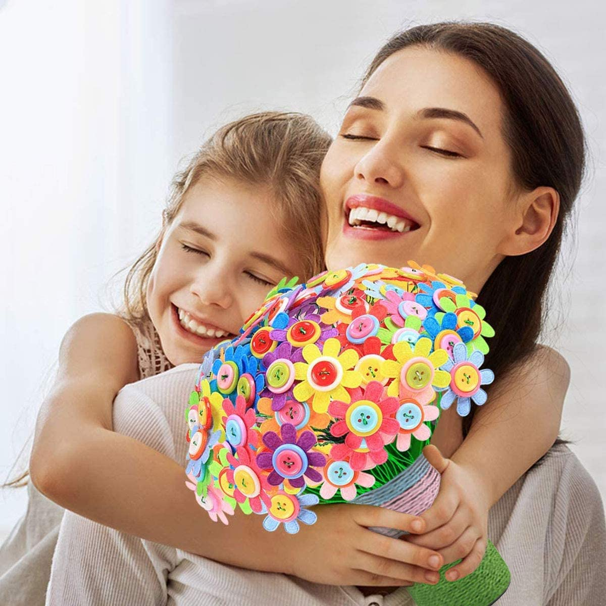 Arts and Crafts Toy for Age 4-12 Years Old Create Your Own Vase and Flowers Flower Crafts for Kids Fun DIY Craft Kit for Boys Girls