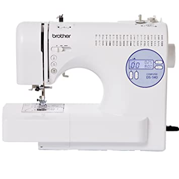 Brother DS-140 - Máquina de coser (Blanco, Costura, 1 paso, Variable, LCD, Botones): Amazon.es: Hogar