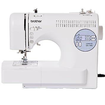 Brother DS-140 - Máquina de coser (Blanco, Costura, 1 paso, Variable, LCD, Botones): Amazon.es: Hogar