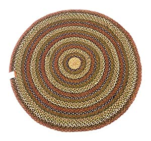 Second Nature Online - Alfombra de algodón Trenzado con Rayas Redondas (100 cm de diámetro)