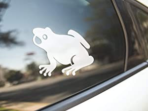 PotteLove Frog Toad Bullfrog, Reptile Amphibian Pet Animal, Marine Biology Biologist, Vinyl Sticker Decal Bumper Laptop Car Vehicle Window Art Decor
