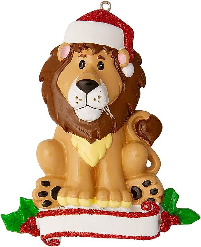 Adorno de árbol de Navidad con diseño de animales del zoo 2019 ...