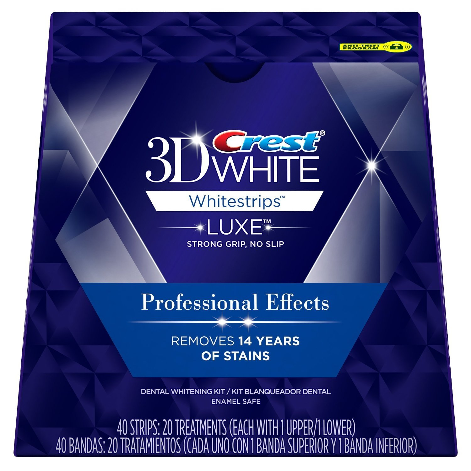 Crest 3D White Luxe Whitestrips Professional Effects - Teeth Whitening Kit 20 Treatments (40 Strips) Per Box - 5 Boxes