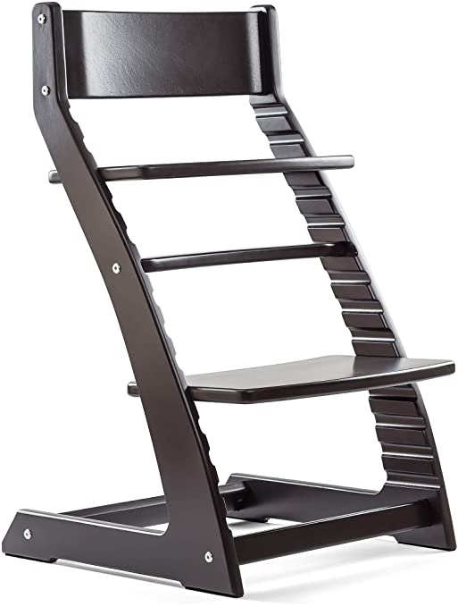 Fornel Heartwood Black Adjustable Wooden High Chair